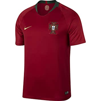 save off 2fecd 1b189 Nike Men's Soccer 2018 Portugal Stadium Home Jersey