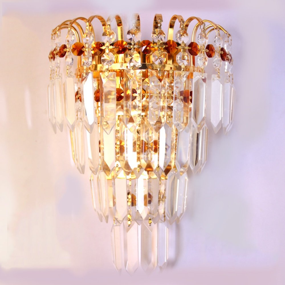 TYDG Luxury Gold Crystal Wall Sconce Lighting Palace led Wall Lamps Europe Royal Villa Hallway Bedside Wedding