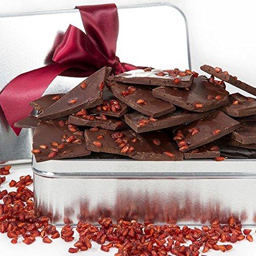 Pomegranate Dark Chocolate Gift Tin, Vegan Gourmet Gift Basket For Purim - Hostess Gift