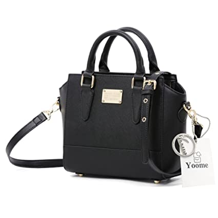 2a7e67f939 Yoome Elegant Bags for Women Top Handle Bag Rivet Bags New Chic Bags  Crossbody Tiny Handbags - Black  Amazon.co.uk  Luggage