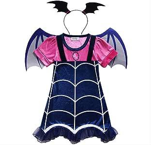 WARRT Disfraz de halloweenHorror Vampirina Trajes Chicas Vestidos ...