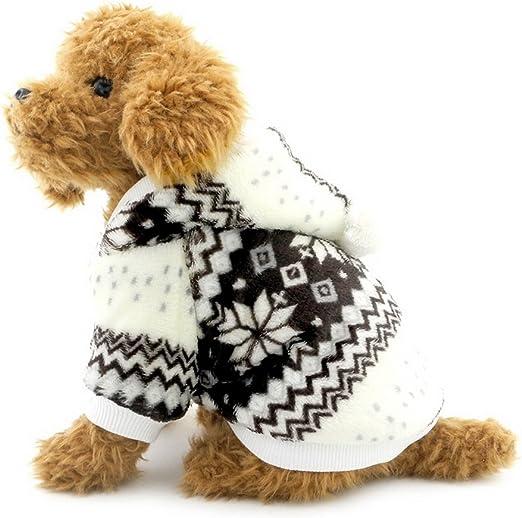 ranphy pequeño perro con capucha jersey copo de nieve perro abrigo con forro polar sudadera con capucha para Gatos ropa de cachorro perro prendas de vestir: Amazon.es: Productos para mascotas