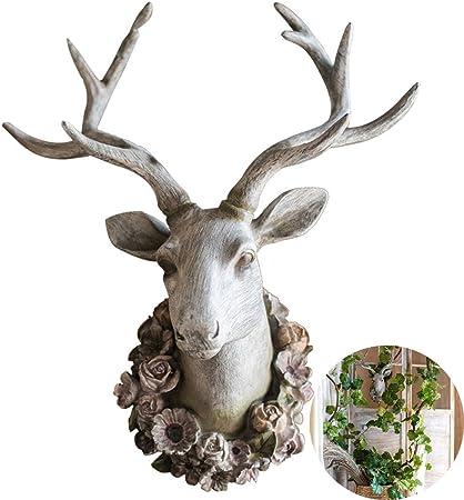Harz Tierkopf Kunst Wanddekor für Wandmontage Dekoration Stierkopf