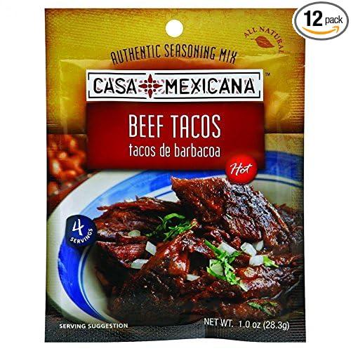 Amazon.com : Casa Mexicana Beef Taco Seasoning Mix, 1 Ounce -- 12 per case. : Mexican Seasonings : Grocery & Gourmet Food