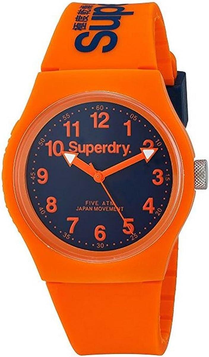 Superdry Reloj Analógico de Cuarzo Unisex con Correa de Silicona – SYG164O