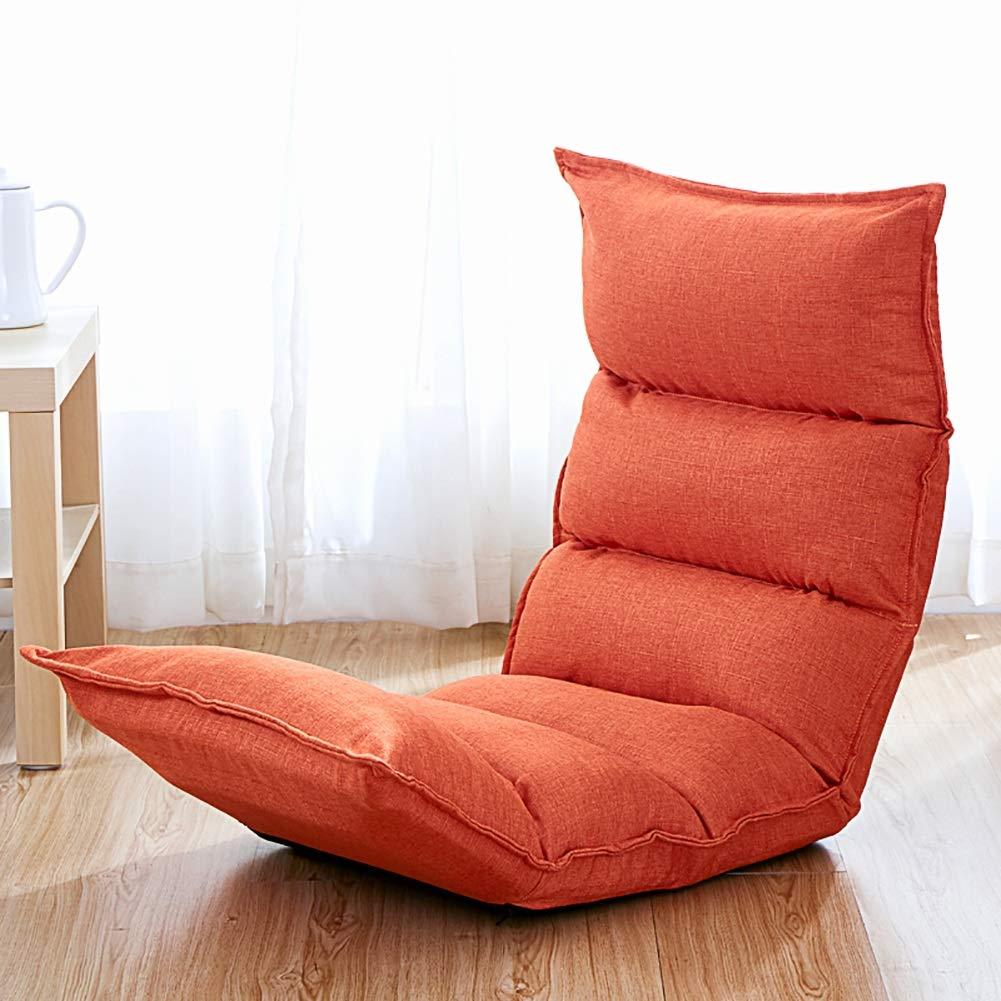 Faules Faules Faules Sofa YXX Mini Klappboden Sofa Stuhl Couch Lounger für Büro & Balkon, Einstellbare Wohnzimmer Video Gaming Chair (Farbe : Orange) 04ffdf