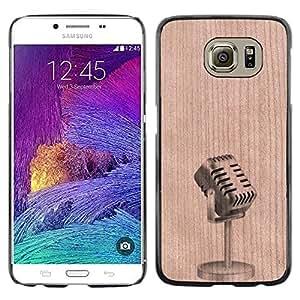 - Microphone Artist Stand Up Comedy - - Funda Delgada Cubierta Case Cover de Madera FOR Samsung Galaxy S6 G9200 BullDog Case