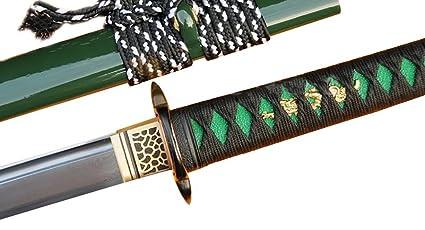 Amazon.com : Lyuesword Japanese Handmade Samurai Ninja Sword ...