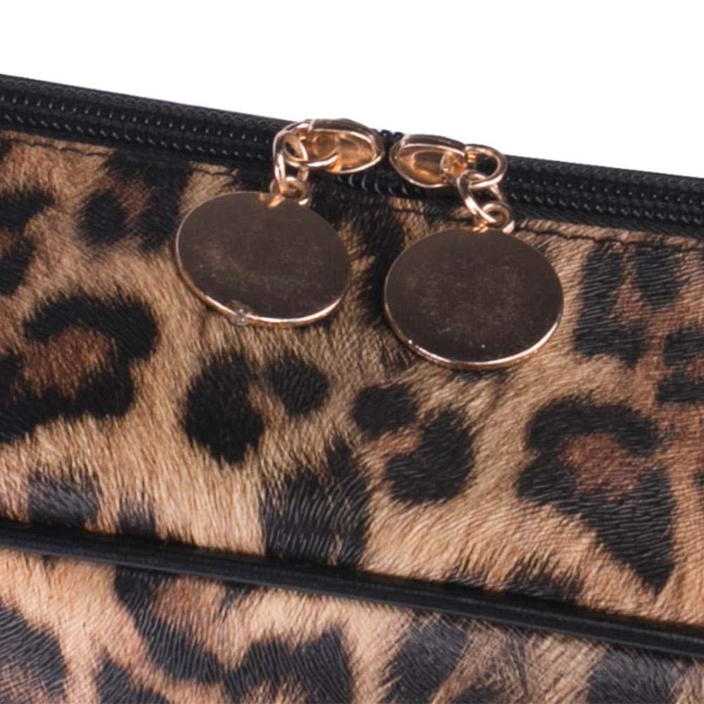 Leopard Kosmetische Reisetasche F/ür Frauen Drucken Multifunktionale Wasserdichte Gro/ße Kapazit/ät Aufbewahrungstasche PU Make-Up Tasche