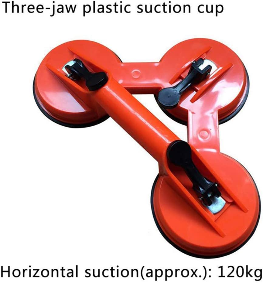 MultiWare Double Cup Suction Lifter 2 PCS Heavy Duty Rubber Suction Cup Glass Lifting Handle Lifter Tool Red