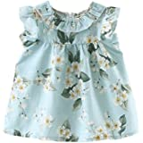 Weixinbuy Baby Girls' Flowers Sundress Princess Casual Loose Playwear Dress