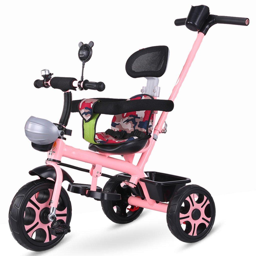 ZGP &Cochecito de bebé Triciclo Infantil Bicicleta para niños Trolley 1-3 años Rueda de Espuma (Color : 2#): Amazon.es: Hogar