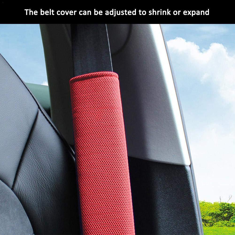Atmungsaktiv Weich Komfort Unisex Erwachsene Schwarz Sitzgurt Polster Polsterung lennonsi 2er Set Auto Gurtpolster Sicherheitsgurt
