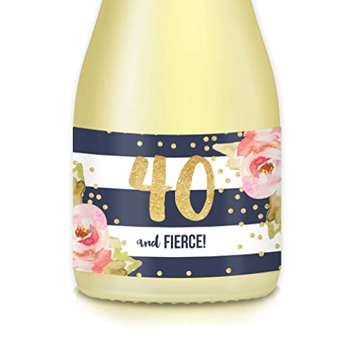 Womans Party Decorations 40th Fortieth Birthday Gift Idea Set Of 20 Mini Champagne Wine