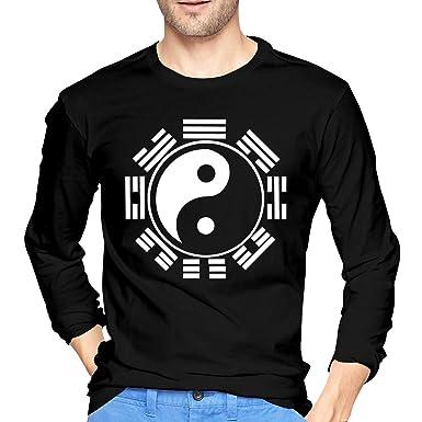 Tai Chi Yin Yang Zen Taoism Camiseta de Manga Larga para Hombre Camiseta Casual de algodón S: Amazon.es: Ropa y accesorios