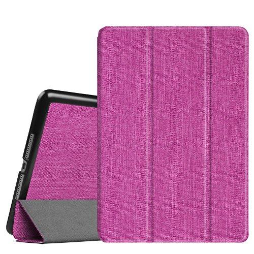 Fintie iPad 9.7 2018 2017 / iPad Air 2 / iPad Air Case, Premium Fabric Lightweight Slim Shell Standing Cover with Auto Wake / Sleep Feature for Apple iPad 6th (Fabric Keyboard)