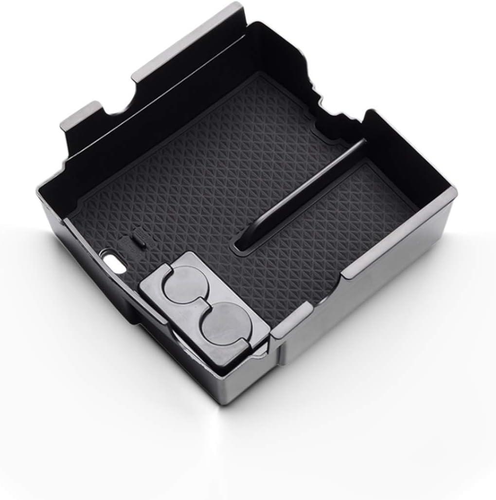 CDEFG para Wrangler JL 2018 2019 Caja de almacenamiento Consola Central Apoyabrazos Caja del coche Interior Center Armrest Storage Box Con Tapete Antideslizante Accesorios Interiores del coche