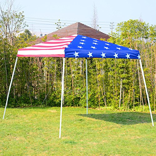 New American flag 10'x10' EZ Pop Up Canopy Wedding Party Tent Outdoor Folding Patio Gazebo Shade Shelter (Australia Patio Retractable Awnings)