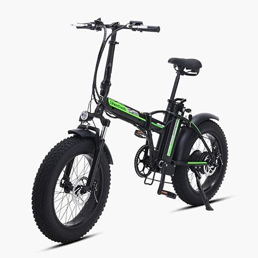 ZBB Bicicleta eléctrica Plegable de 500W Montaña Bicicleta de ...
