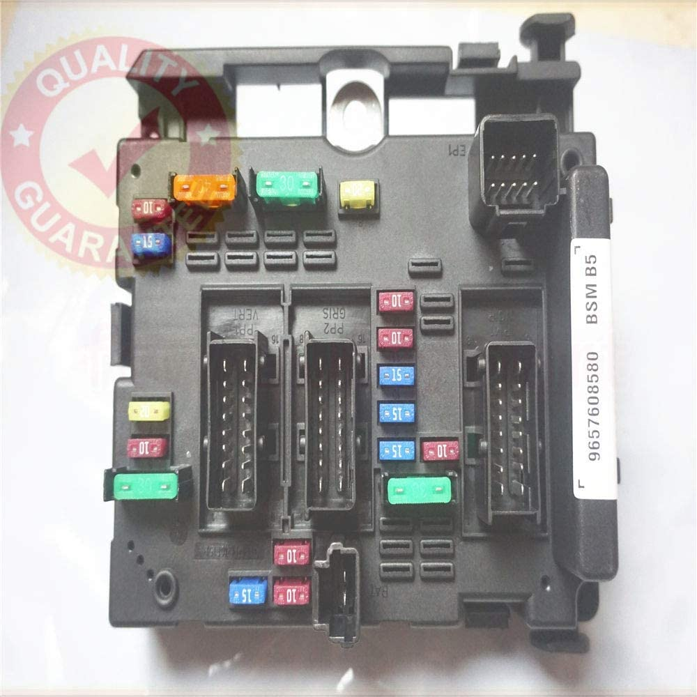 9657608580 Fuse Box Module General System Relay Controller Body Control for  Peugeot 206 Cabrio 307 Cabrio 406 Coupe 807 - - Amazon.comAmazon.com