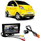 Fabtec Premium Quality 4.3 Inch Full Hd Dashboard Screen With LED Night Vision Reverse Parking Camera For New Tata Nano