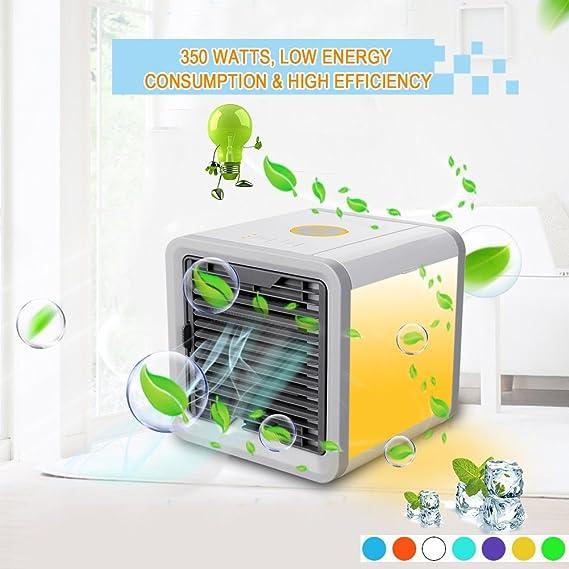 Blanc Climatiseur Portable Ventilateur USB Muitifonction 3 EN 1 Mini Climatiseur Humidificateur Purificateur
