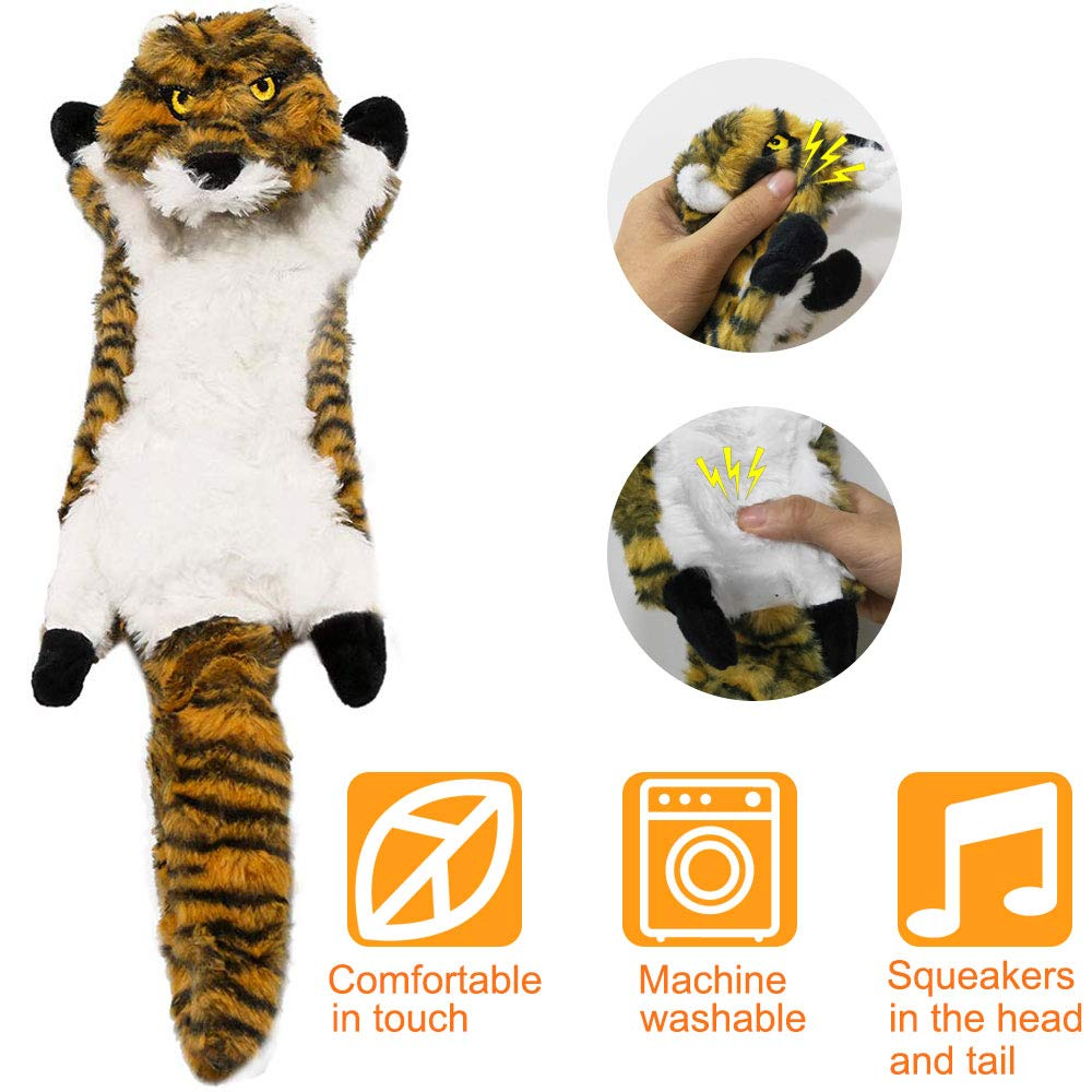 Gooswexmzl Dog Squeaky Toys - Stuffingless Dog Toys for Large Breed No Stuffing Dog Toy Set Dog Chew Toys Dog Plush Toys 5 Pack