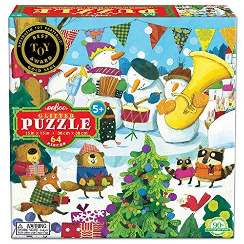 Eeboo Snowman's Band Jigsaw Puzzle, 64 (Snowman Band)