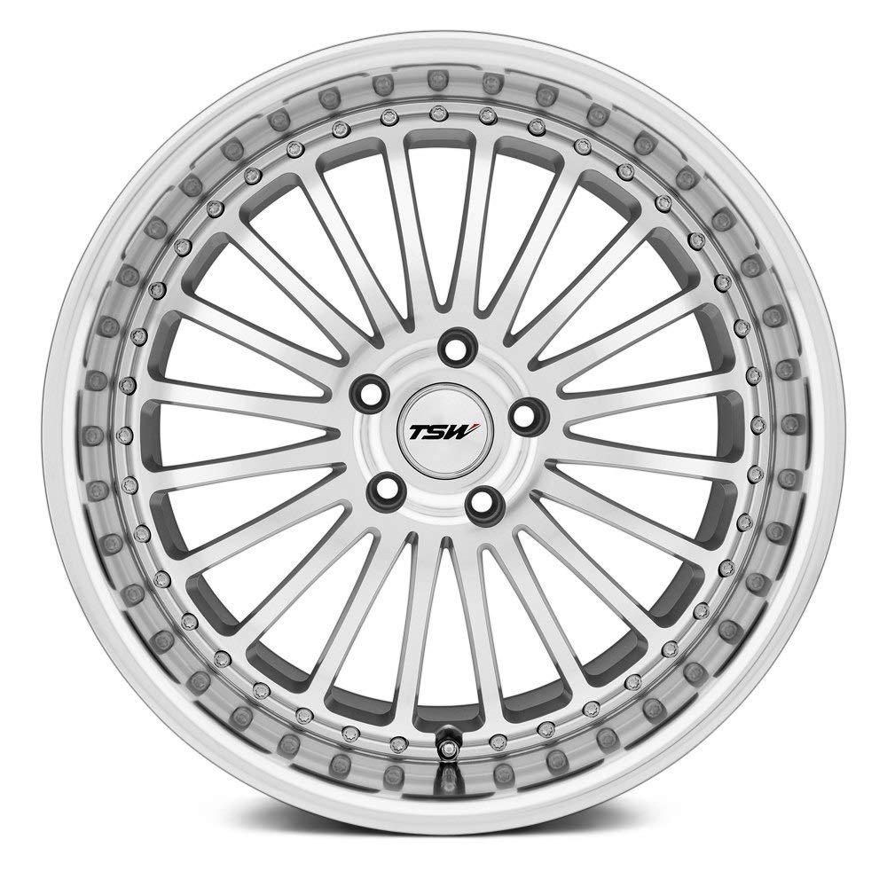 TSW Silverstone Silver Wheel with Machined Lip 19x8//5x114.3mm