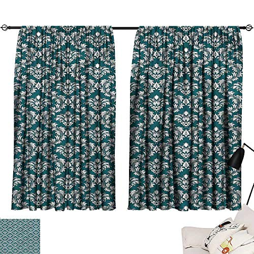 (Denruny Room Curtains Victorian,Old Damask Venetian Style 54