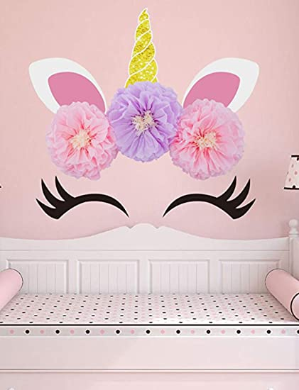 Amazon Com Kelynn Unicorn Party Supplies Decorations Backdrop Large