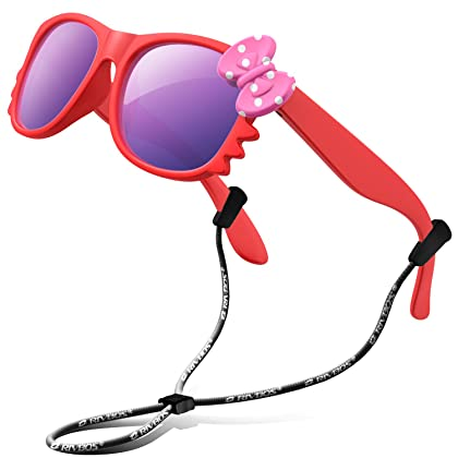 d29a755658b RIVBOS Rubber Kids Polarized Sunglasses With Strap Glasses Shades for Boys  Girls Baby and Children Age 3-10 RBK002 (Red Mirror Lens