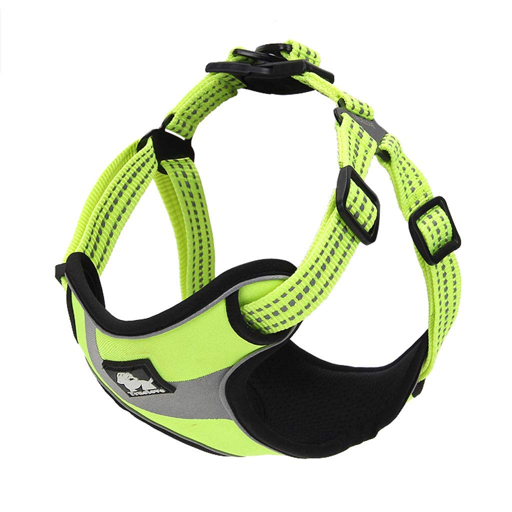 Green Small Green Small Pet Chest Strap with golden Retriever Dog Leash Large Dog Leash Dog Small Dog Chain Supplies (color   Green, Size   S)