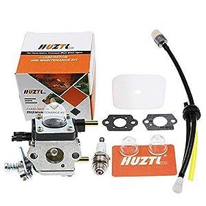 HUZTL C1U-K54A Carburetor Repower Kit Air Fuel Filter Gasket for 2 Cycle Mantis 7222 7222E 7222M 7225 7230 7234 7240 7920 7924 Tiller Cultivator Echo