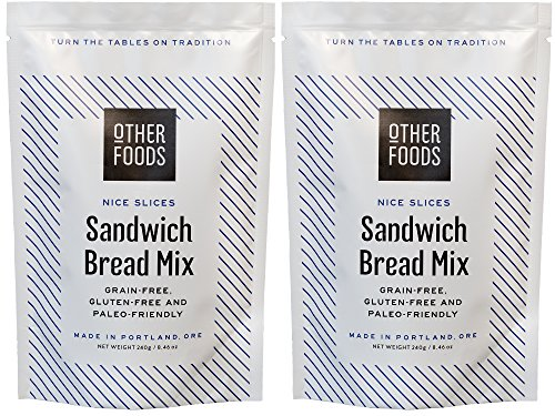 Gluten Free Sandwich Bread Mix - Easy Bake, Grain-Free, Dairy-Free, Paleo Friendly Baking Mix by Other Foods 2 Pack