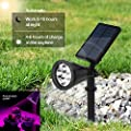 Solar Grow Light Outdoor Solar Spotlight 16 Led Grow Lamp Adjustable For Outdoor Automatic Plants Hydroponics Gardening