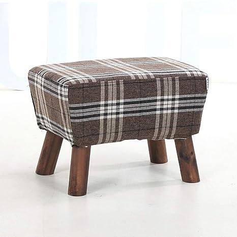 Amazon.com: LJJL - Taburete de madera para reposapiés, banco ...