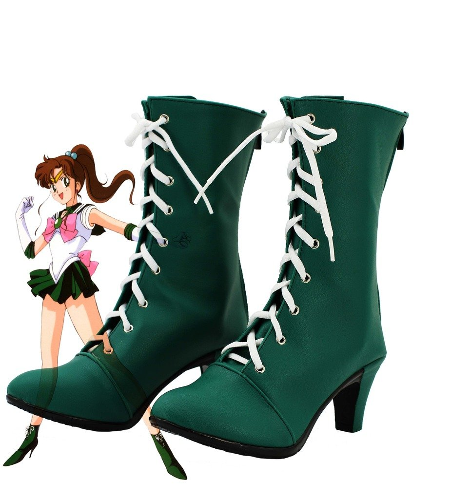 Sailor Moon Sailor Jupiter Makoto Kino Cosplay Shoes Boots Custom Made by Telacos