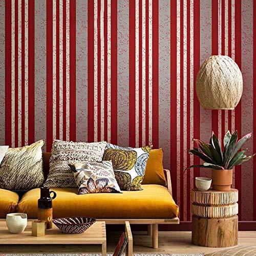 Mediterranean red blue striped wallpaper modern minimalist living room bedroom background wall paper (Color : Color 4) ()