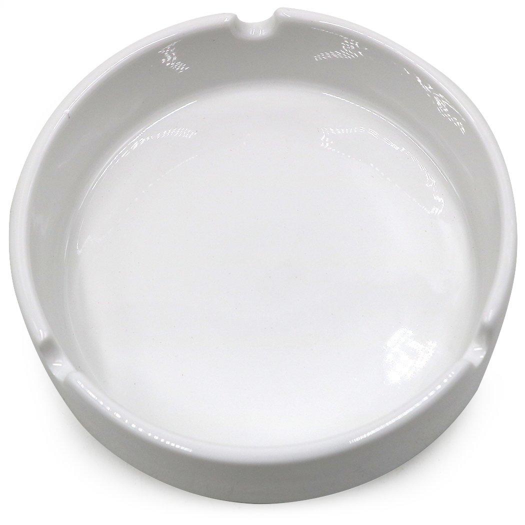 Amazon.com: Teagas Glossy White Ceramic Cigarette Ashtray for Men ...