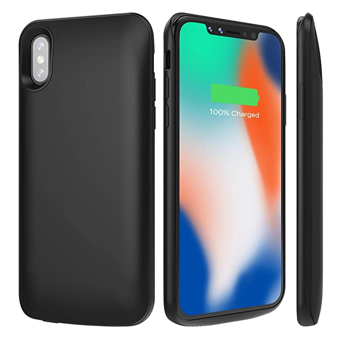 the latest 05177 d0036 ALCLAP iPhone X Battery Case,3600mAh Slim Rechargeable Charging Case  Portable External Charger Power Case Compatible iPhone X/10(5.8 in)-Black