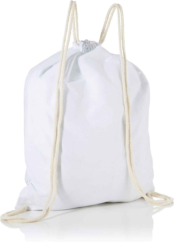 38 cm x 42 cm Blanco Texlab VEND-209227 Bolsas con cord/ón
