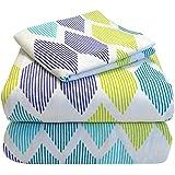 Heavyweight 100% Cotton Flannel Sheet Set Twin XL Extra Long (Twin XL, Morning Diamonds)
