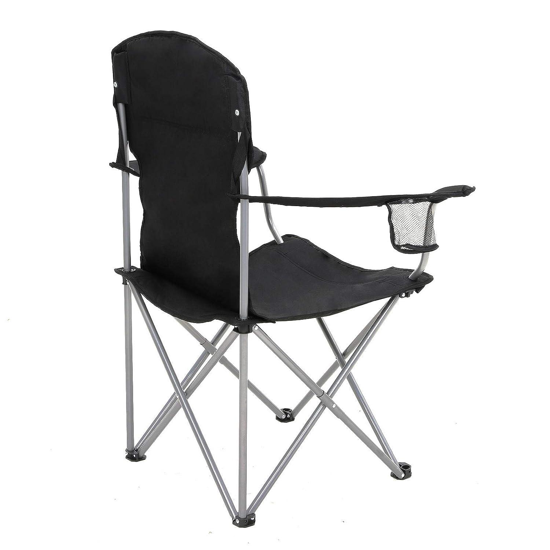 bis 150 kg belastbar 2er-Set mit Flaschenhalter Klappstuhl mit robustem Gestell komfortabel Outdoor Stuhl klappbar SONGMICS Campingstuhl