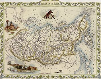 Karte Russland Asien.Amazon De 1800 S Russland Asien Bar Sibirien Karte Gross
