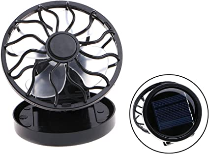Clip-on Hat Mini Clip Solar Sun Energy Power Panel Cooling Fan Cooler Cell I0Y5