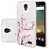 zte prelude phone case cricket - Harryshell For ZTE Prestige 2 N9136 / Avid Plus / Chapel / Sonata 3 / Maven 2 / Prestige N9132 / Avid Trio / ZFive 2 / Midnight Pro Glitter Sparkle Bling 3 layer Hybrid Protective Case Cover (Flower)