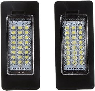 Matrícula LED Luz Día de 24 SMD Blanco Para BMW E90 M3 E92 E70 E39 ...