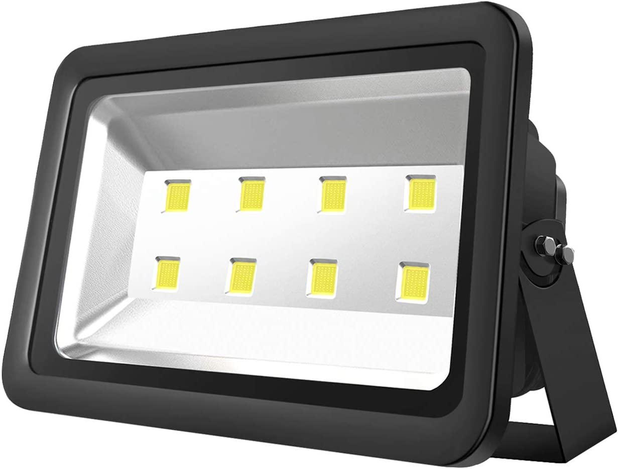 Atoechie 400W LED Flood Light Outdoor Daylight White 6000K, Super Bright 40000lm, 50000hrs Lifetime, Waterproof IP65, Light Fixtures for Backyards Buildings Parking Lots