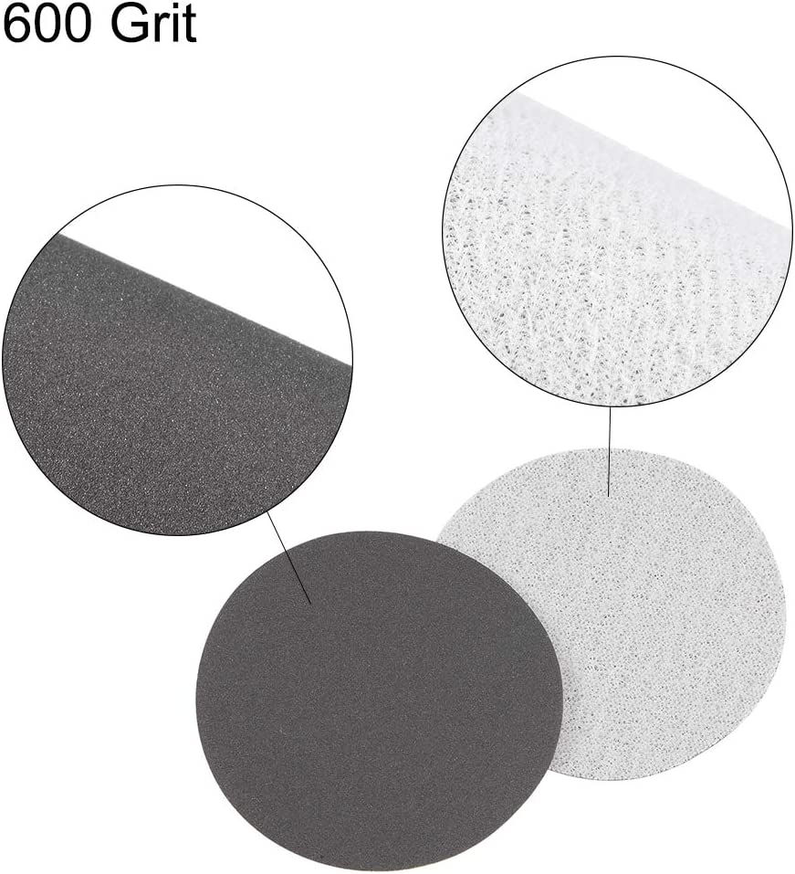 uxcell 2-Inch Hook and Loop Sanding Disc Wet//Dry Silicon Carbide 600 Grit 50 Pcs